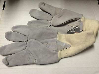 12 Pair Size Xlarge 678C5Kxl  Leather Work Gloves Kevlar Sewn Reinforced Thumb