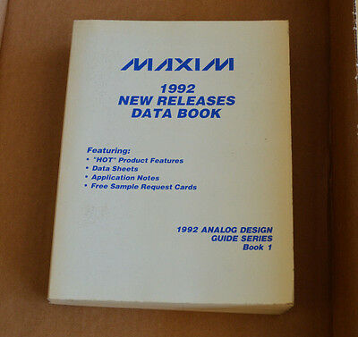 Maxim 1992 New Releases Data Book - Databook