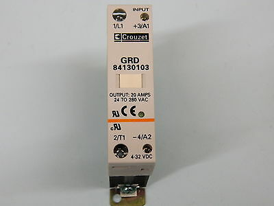 Crouzet GRD 84130103 Silicon controlled rectifier 20A 24-280vac Switch 4-32vdc