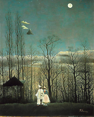 Henri Rousseau Carnival Evening Forest Painting 8x10 Real Art Canvas Print