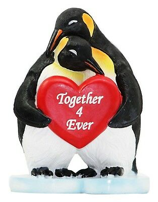 """Antarctica South Pole Soul Mate Penguins """"Together 4 Ever"""" Figurine 5.5"""" Tall"""