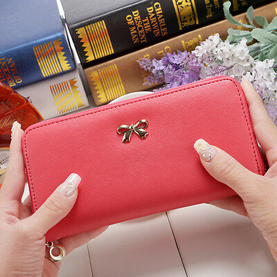 Fashion Women Long Wallet Card Holder Case Leather Clutch Lady Purse Handbag