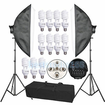 Photo Studio Video Photography Softbox 2250W Light Stand Continuous Lighting Kit