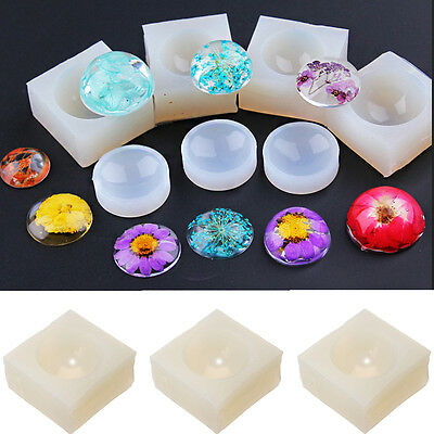 Silicone Mold Making Kit Jewelry 3D Gem Round Pendant Resin Casting Mold 18-30mm