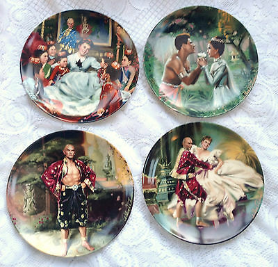 "4 Knowles ""The King and I"" Collector Plates by William Chambers  (48)"
