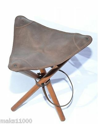 Portable Folding Chair Outdoor Fishing Camping Hunting Travel Stool Gen. Leather