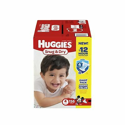 Huggies Snug and Dry Diapers Size 4 156 Count (One Month Supply)