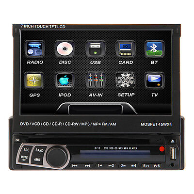 Double1 DIN Touch Screen Car DVD Player Bluetooth GPS Nav Stereo Radio FM/USB