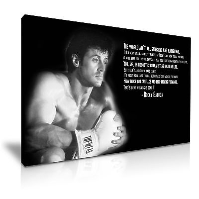 Rocky Balboa Sylvester Stallone Canvas Wall Art Picture Print 76x50cm