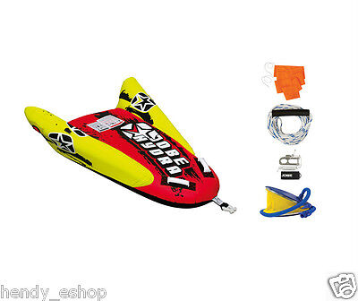 New! Jobe HYDRA Towable Inflatable package 1 Person / Rider pump tow rope