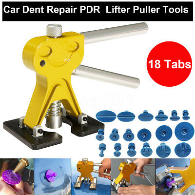Lifter Glue Puller + 18 Tabs Hail Removal Paintless Dent Repair pdr Tool Kit New