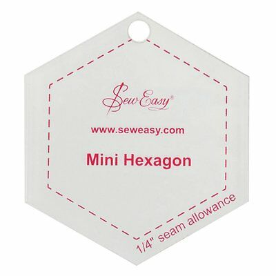 Sew Easy Mini Hexagon Quilting/Patchwork Template