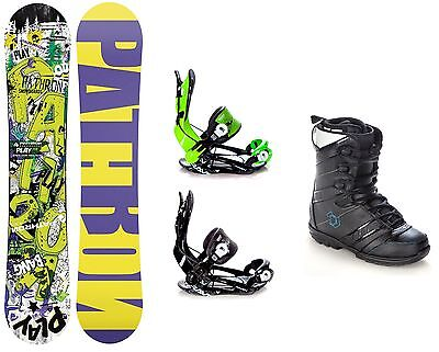 Snowboard Pathron Play Pro + Bindung Raven Fastec FT270 + Boots Northwave Force