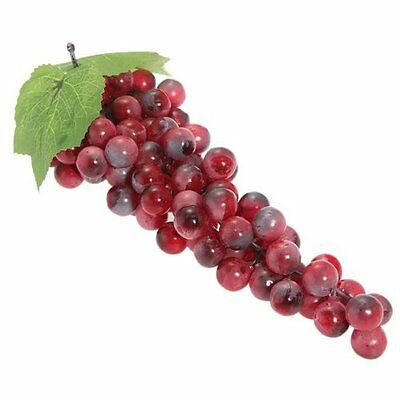 Artificial Bunch of Grapes Red Faux 85 PE  Decorations for Wedding Party 27CM PK