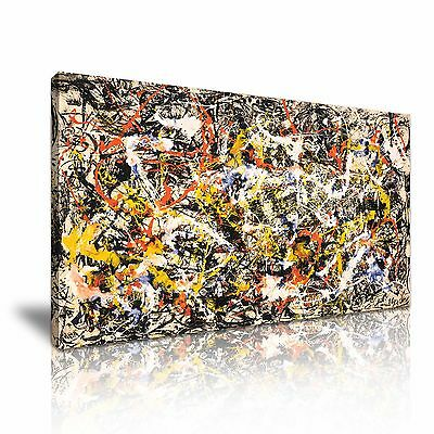 Jackson Pollock Abstract Canvas Wall Art Picture Print 60x30cm