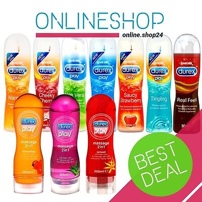 Durex PLAY Lubricant Lube Massage GEL - Real Feel Fruits Perfect Glide Aloe Vera