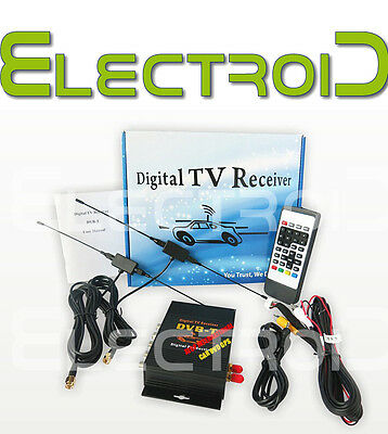 Digitale Terrestre Per Auto Antenna Tv Car Digital Receiver Dvb-T Doppio Doppia