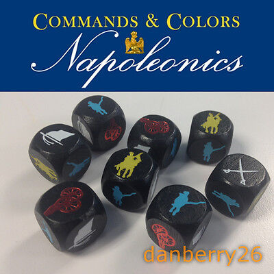Custom Etched Dice Set for GMT Commands & Colors: Napoleonics CCN /Battle Cry