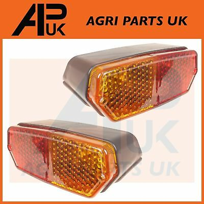 PAIR Fiat 450,480,500,540,550,600,650,750,850,900 Tractor Rear Brake Lights Lamp