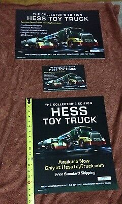 Hess 2014 50th Anniversary Toy Truck Signs