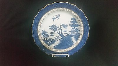 Booths REAL OLD WILLOW (scalloped, gold trim) - Dinner Plate