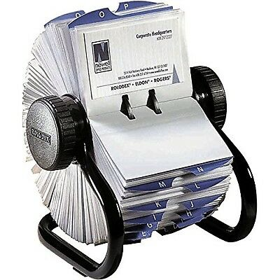 Rolodex Open Rotary Business Card File with 200 2-5/8 by 4 inch Card Sleeve a...