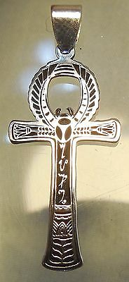 Ankh Anch egyptian cross  pendant 925 sterling silver (p605)