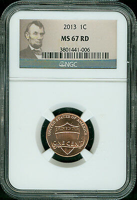 2013-P Lincoln Shield Cent Ngc Ms67 Red Beautiful And Rare