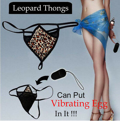 Sexy Women Lingerie Underwear Leopard Panties G-String Thong T-back for Vibrator