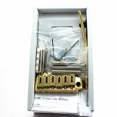 Gotoh EV510T-FE Guitar Tremolo Steel Block Stainless String Guide GOLD Finish
