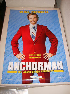 ANCHORMAN WILL FERRELL (2004) US AUTHENTIC ORIGINAL 27x40 DS MOVIE POSTER (S)
