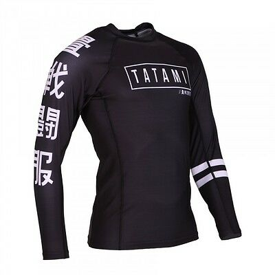 New! Tatami Kanji Rash Guard Rashguard Jiu Jitsu Compression BJJ No-Gi MMA