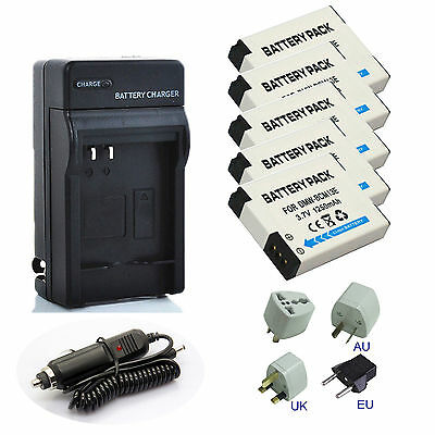 DMW-BCM13E DMWBCM13E Battery Charger for Panasonic Lumix TZ40 DMCTS5 DMCFT5