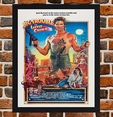 Framed Big Trouble In Little China Movie Poster A4 / A3 Size In Black Frame