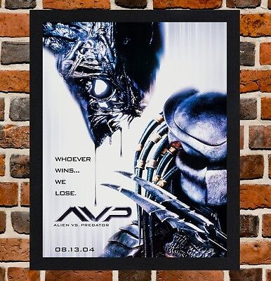 Framed AVP: Alien vs. Predator Movie Poster A4 / A3 Size Mounted In Black Frame