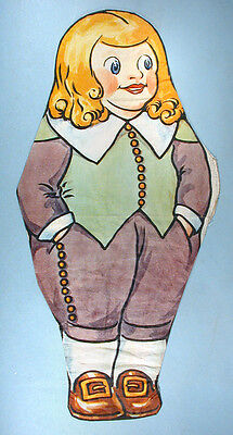 1930s Quaker Crackels Cloth Character Doll Cereal Advertising Premium Oats