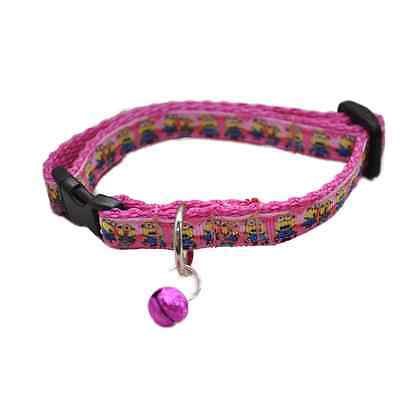 Pink Minions Cat Kitten Puppy Small Dog Collar