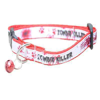 Zombie Killer Blood Walking Dead Kitten Puppy Small Dog Collar EXCLUSIVE • EUR 8,78