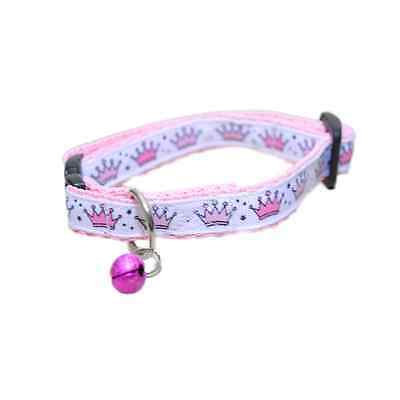 Pink Royal Princess Queen Crown Cat Kitten Puppy Small Dog Collar