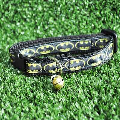 Black Batman Logo Superhero Cat Kitten Puppy Small Dog Collar