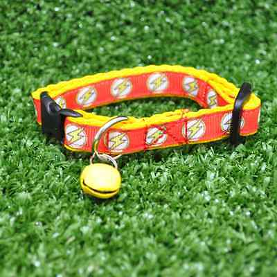 FLASH Lightning FAST SUPERHERO Cat Kitten Puppy Small Dog Collar