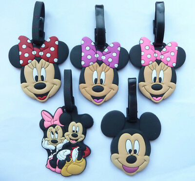 Luggage Labels Tags Minnie Mouse Mickey Mouse 3 designs NEW