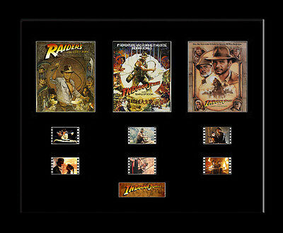 Indiana Jones Trilogy - Framed 35mm Mounted Film Cells - 3 movies filmcell