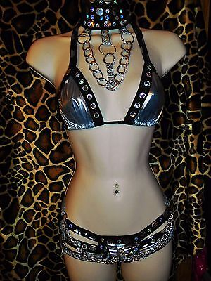 Your Stripper Outfits Silver Bomb Stunning Outfit Dancers Sexy