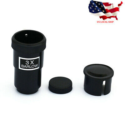 "1.25"" 31.7mm 3X Barlow Lens for Telescope Eyepieces Astronomy US Local"