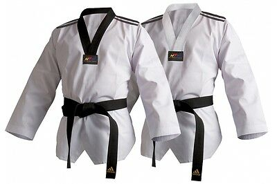 Adidas WTF Club Dobok Taekwondo GI ADULT KIDS WTF DOBOK SUIT UNIFORM