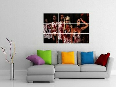 "Butcher Babies 35""x25"" Inch Mosaic Tile Wall Poster Carla Harvey Heavy Metal"