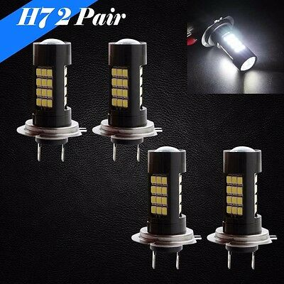 Combo Set 2 Pair H7 Samsung Chip LED 30 SMD White 6K Headlight Bulb Hi Low Beam