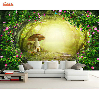 Nature Forest Tree Wallpaper Rose Vine Wall Paper Murals 3d Background Stickers