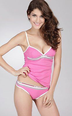 Dolce & Gabbana Neon Lights V-Neck Cotton Camisole hot pink only size 8/10/12/14